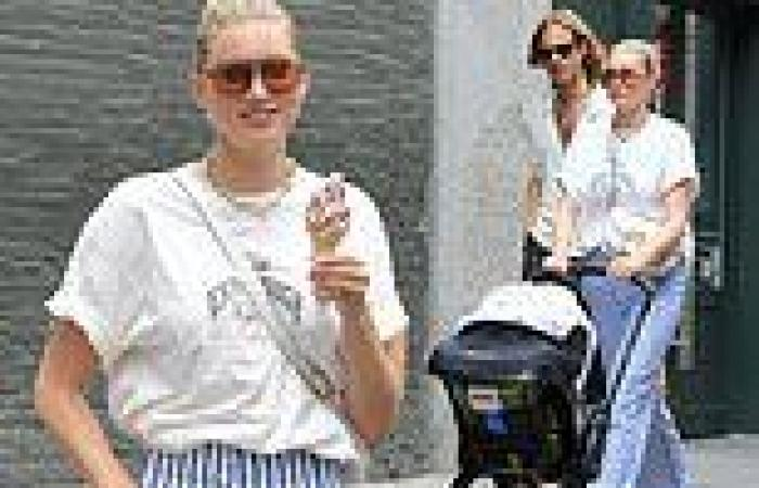 Elsa Hosk and Tom Daly beat the heat with cold treats while visiting New York ...
