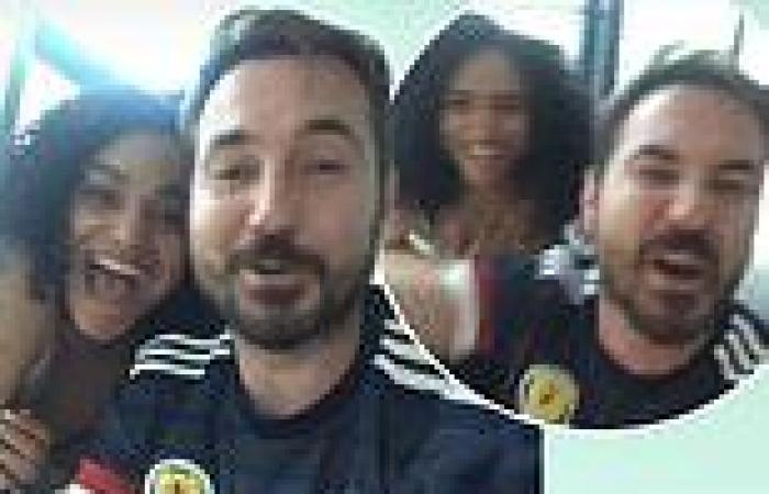 Line Of Duty's Martin Compston celebrates Scotland's Euros draw against England ...