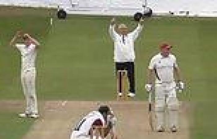 Club cricketer hits ball for six through his own car windscreen