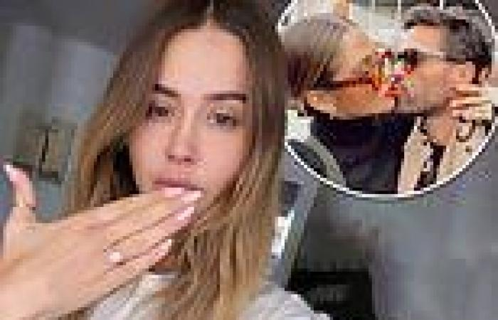 Ruby Tuesday Mathews shows off her diamond ring after announcing engagement ...
