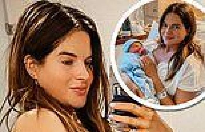 Binky Felstead shares candid snap from the day after giving birth to son Wolfie