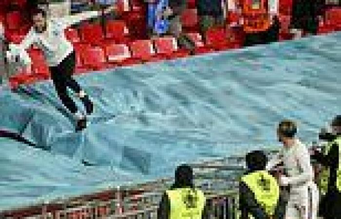 sport news Euro 2020: Raheem Sterling and Jack Grealish throw shirts into crowd after ...