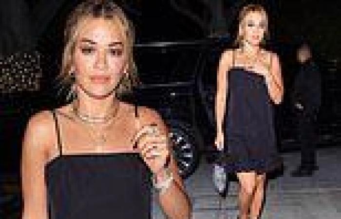 Rita Ora looks chic in a little black dress for dinner at Matsuhisa in Los ...