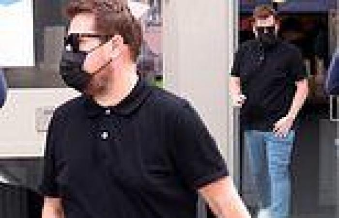 James Corden steps out for coffee showing off his slimmed down physique