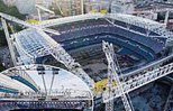 sport news Real Madrid release new footage of Santiago Bernabeu stadium development