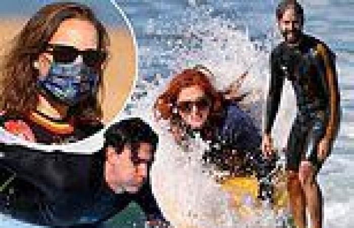 Sacha Baron Cohen and Isla Fisher go surfing with Natalie Portman and Benjamin ...