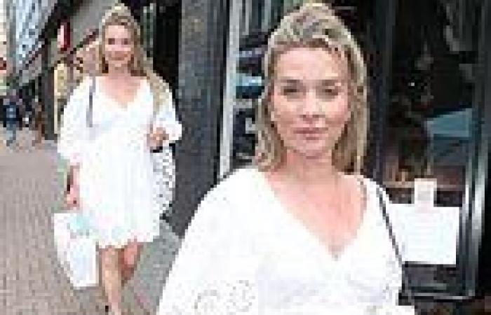 Bake Off star Candice Brown cuts a stylish figure in broderie anglaise dress