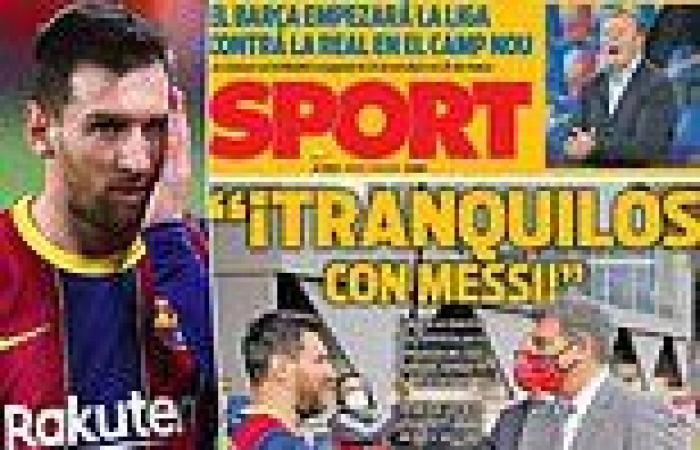 sport news Barcelona: Spanish newspapers urge for 'calm' as Lionel Messi becomes a free ...