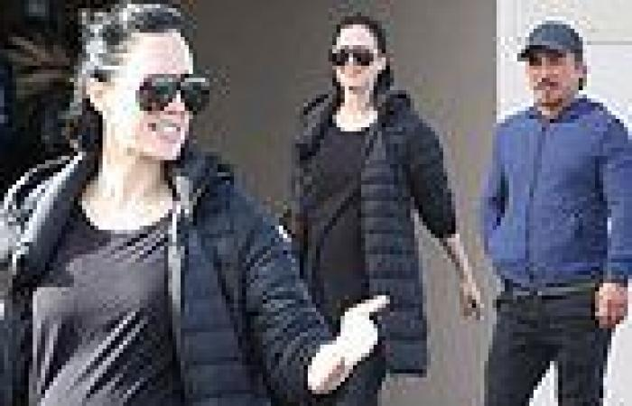John Ibrahim's pregnant girlfriend Sarah Budge shows off her baby bump as they ...