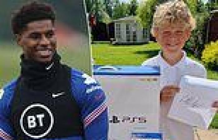 sport news England and Manchester United star Marcus Rashford gives special gift to young ...