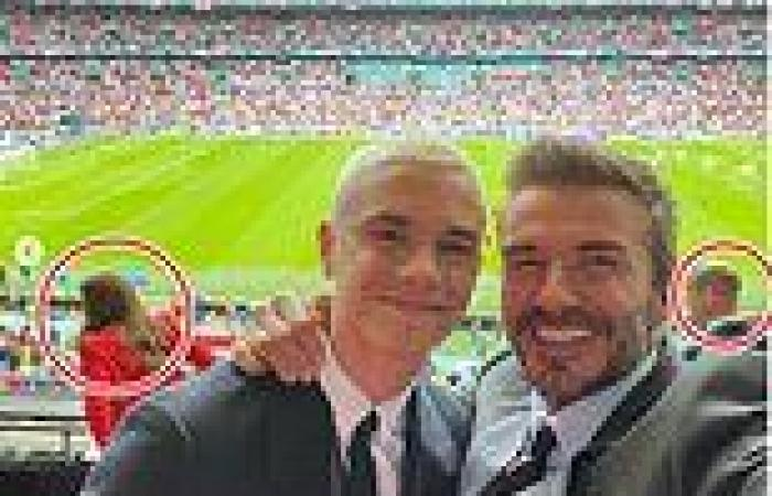 Kate and Prince William pop up in David Beckham's Wembley Instagram selfie