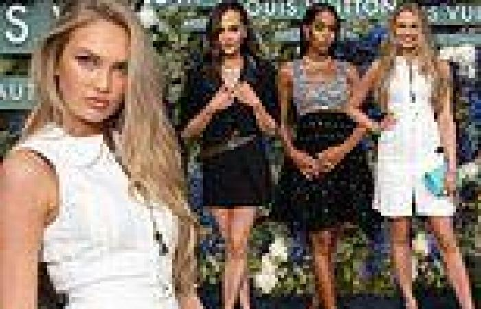 Romee Strijd joins Alicia Vikander andLaura Harrier at glitzy Louis Vuitton ...