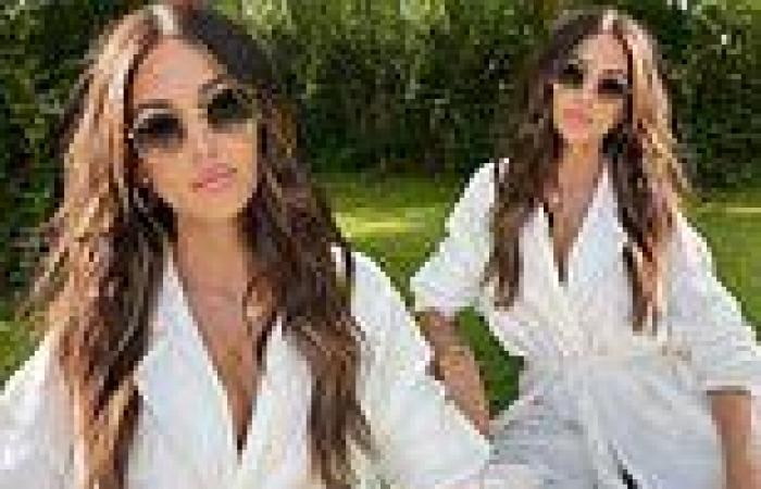 Michelle Keegan showcases her enviable style in an all-white outfit for a ...