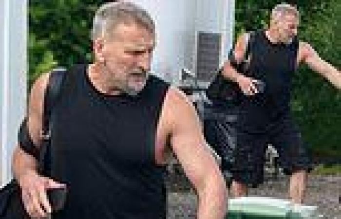 Christopher Eccleston, 57, displays his muscular frame in black outfit after ...