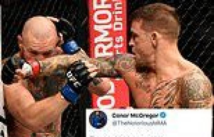 sport news UFC 264: Conor McGregor BLASTS Dustin Poirier in Twitter tirade over takedown ...