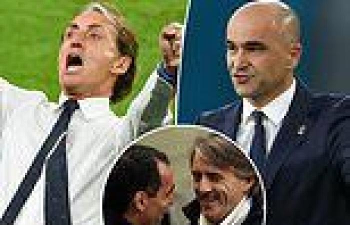 sport news Euro 2020: Robertos Mancini and Martinez meet for first time since 2013 FA Cup ...
