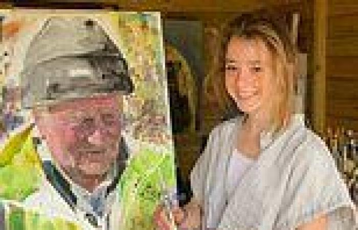 Schoolgirl, 14, will have her portrait of neighbour displayed at Royal Academy