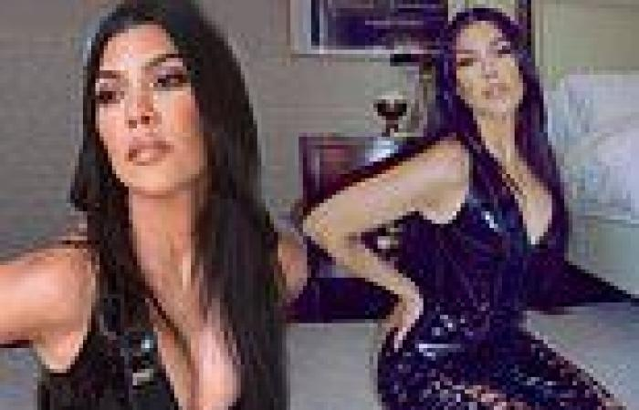 'All tied up': Kourtney Kardashian puts on an eye-popping display in a racy ...