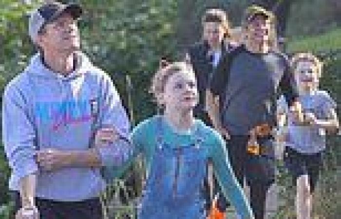 Neil Patrick Harris enjoys a coastal walk with his husband and two kids