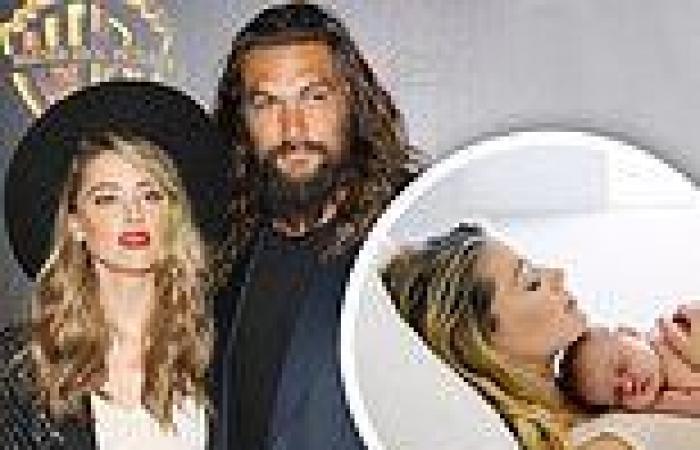 Jason Momoa sends congratulations to Aquaman co-star Amber Heard after she ...