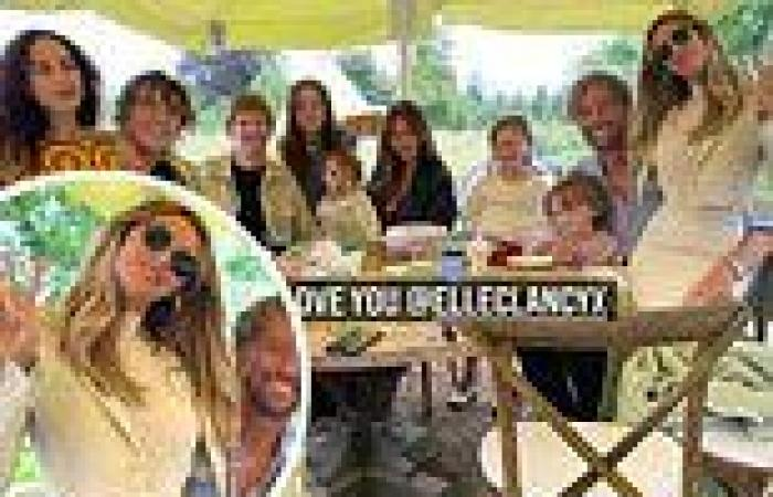 Abbey Clancy celebrates sister Elle Clancy's 24th birthday with four kids and ...