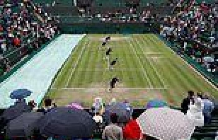 sport news Wimbledon 2021: Rain dampens spirits as downpour delays Emma Raducanu's match