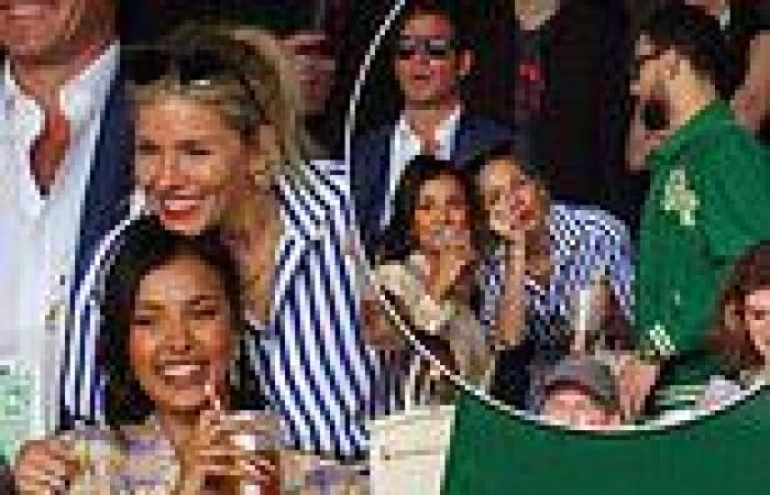 Sienna Miller looks animated as she larks around with unlikely pal Maya Jama at ...