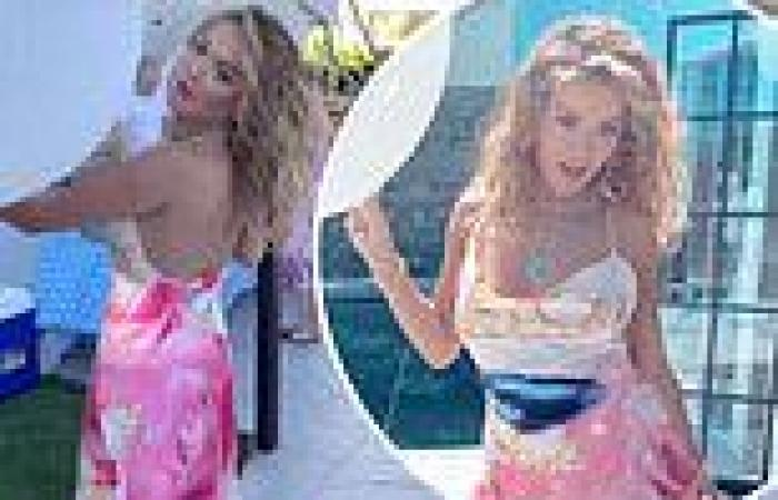 Rita Ora shows off her girly side as she celebrates 4th of July with Prospero ...