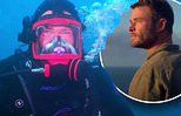 Chris Hemsworth dives with sharks in Foxtel's new documentary Shark Beach