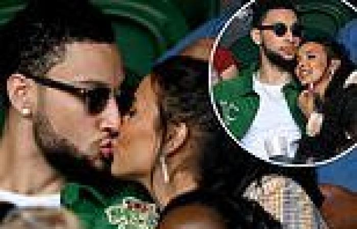 Maya Jama confirms relationship with NBA player Ben Simmons with kiss at ...