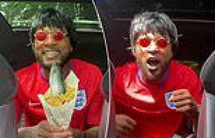 sport news Patrice Evra encourages England to win Euro 2020 holding a RAW FISH in wacky ...