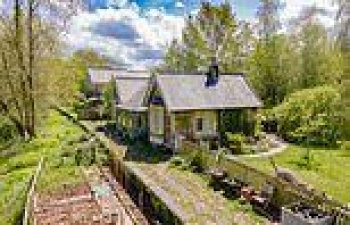 Converted Devon railway station which opened in 1885 now on sale as a three bed ...