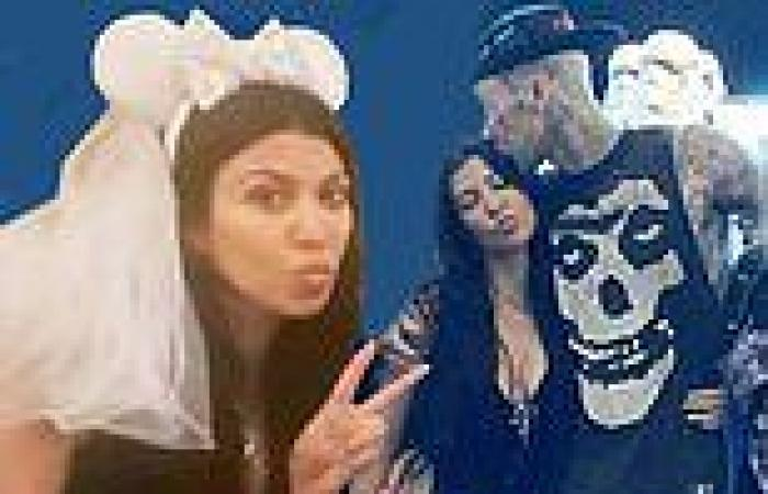 Kourtney Kardashian sparks engagement rumors as she dons bridal Minnie Mouse ...