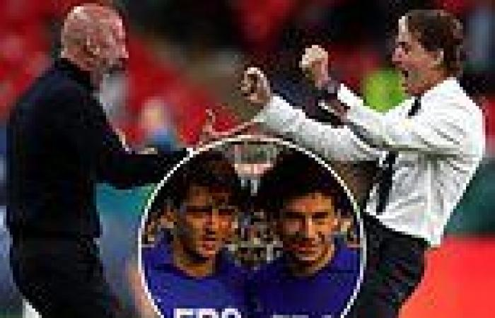 sport news Wembley pain for Roberto Mancini and Gianluca Vialli in '92 final driving Italy ...