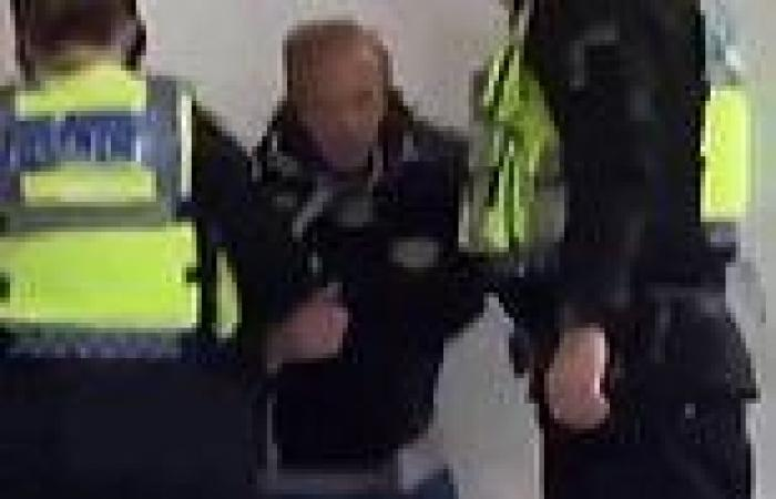 Moment notorious football fan the 'Wealdstone Raider' is chased by police and ...