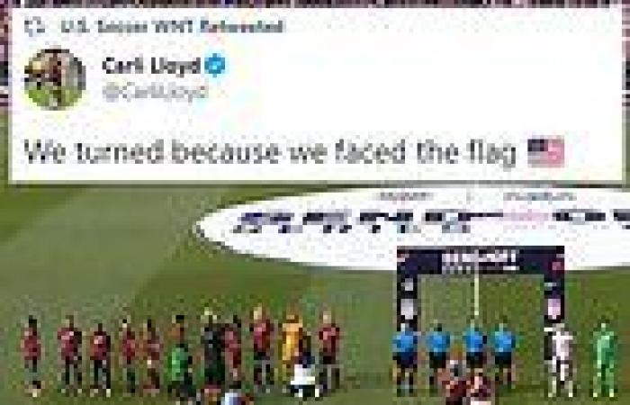 US women's soccer team is falsely accused of disrespecting WWII veteran, 98, ...