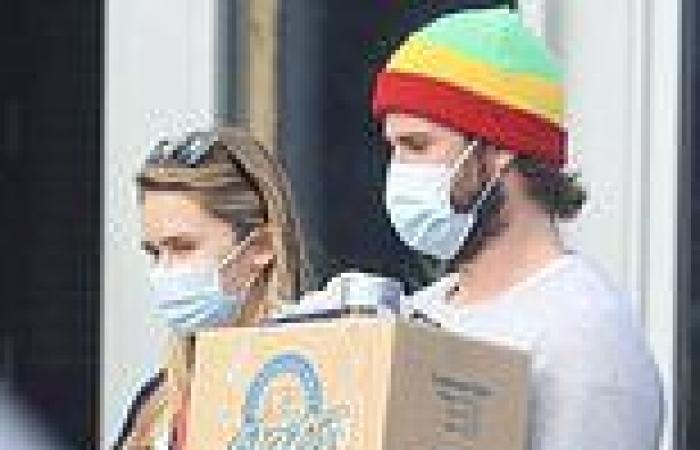Liam Hemsworth and girlfriend Gabriella Brooks grab some essentials in Byron ...
