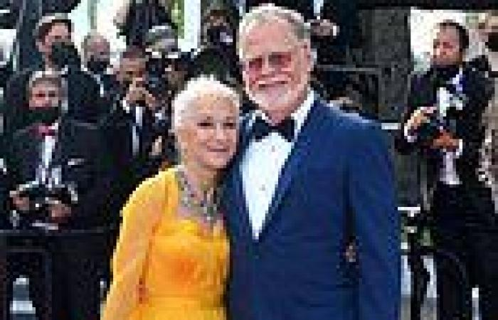 Cannes 2021: Helen Mirren, 75, stuns in a flowing floral frock at Annette ...