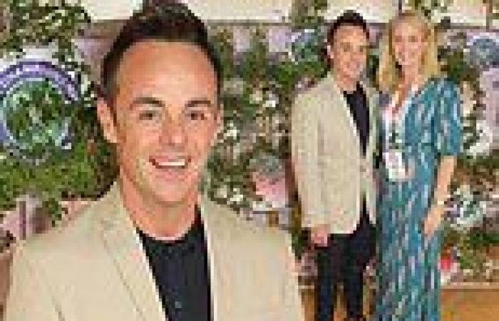 Ant McPartlin joins his fiancée Anne-Marie Corbett at Wimbledon