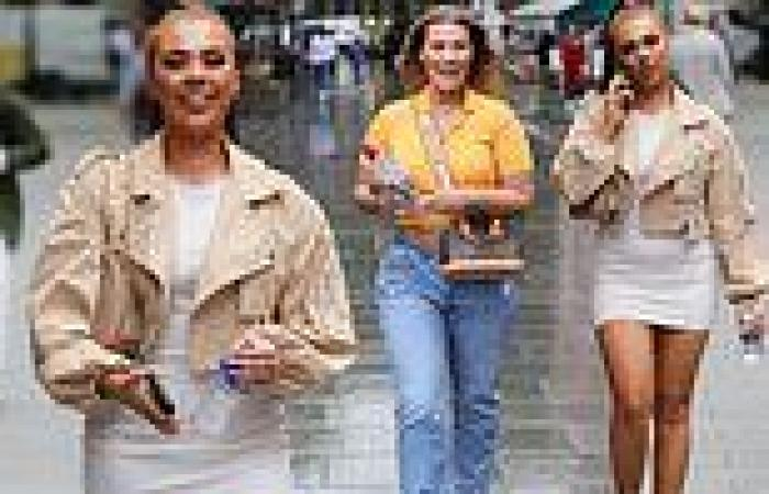 Love Island's Demi Jones and Shaughna Phillips sizzle as they arrive at Global ...