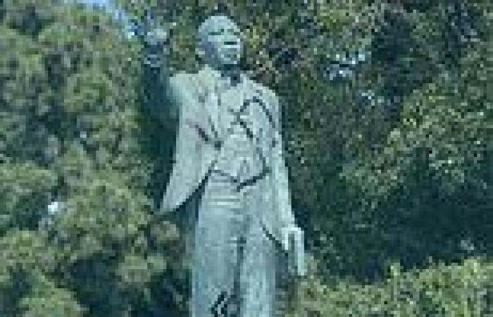 Martin Luther King Jr statue is vandalized with swastika and SS bolts in Long ...