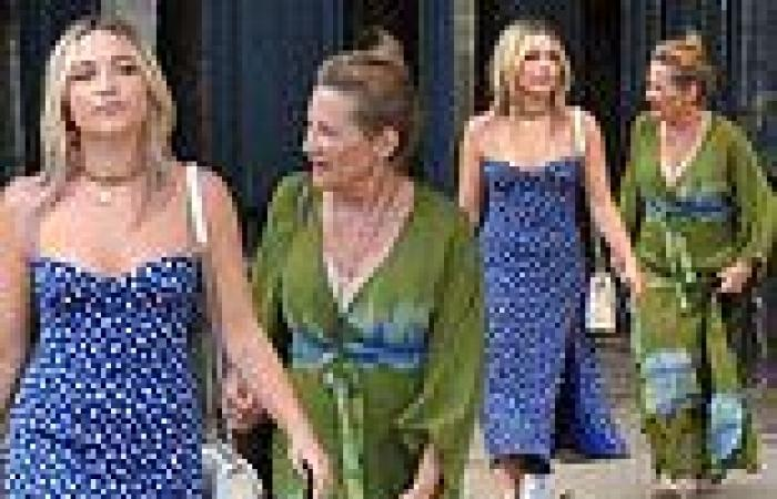Florence Pugh wows in cheeky thigh-split midi dress in Paris with mother ...
