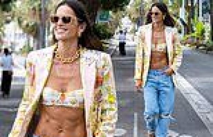 Cannes Film Festival: Izabel Goulart showcases washboard abs
