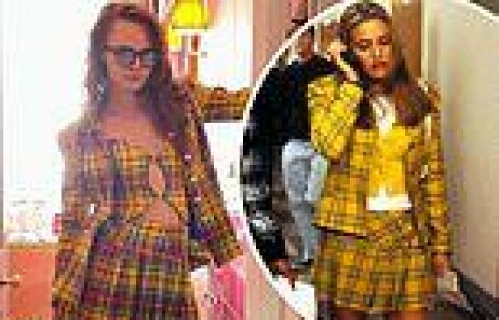 Cara Delevingne channels her innerCher Horowitz in a yellow tartan jacket and ...
