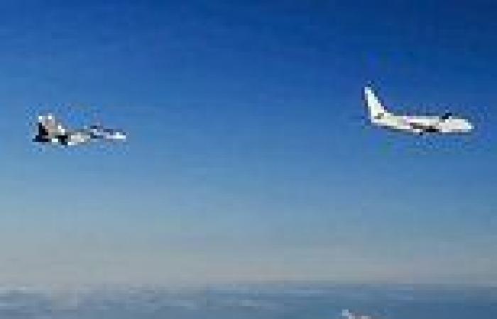 Russian fighter jets 'buzz' American spy plane in the Black Sea