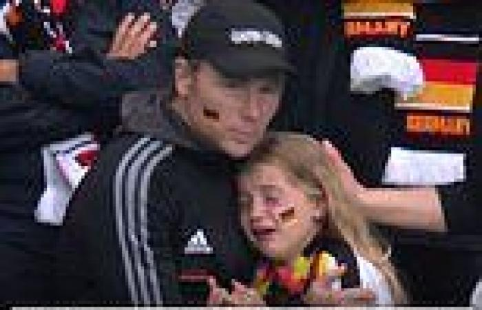 sport news £36,000 raised by JustGiving page for German girl who was seen crying will be ...