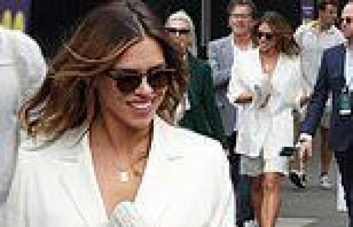 Billie Piper leads the stars on day 10 of Wimbledon
