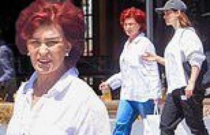 Sharon Osbourne grabs lunch with daughter Aimeein West Hollywood