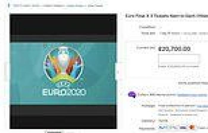 Euro 2020: Prices for four tickets to final hits £60,000 on tout sites