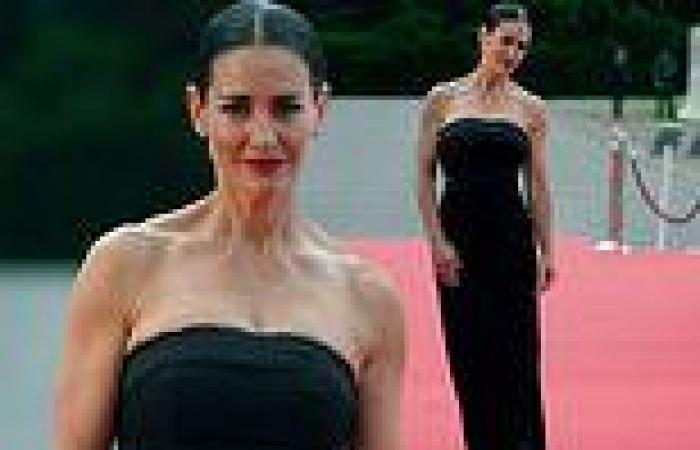 Kirsty Gallacher wows in strapless black gown for the Pride Of Scotland Awards